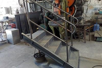 Degrau de Escada de Ferro