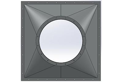 Fabricante de Quadrado para Redondo